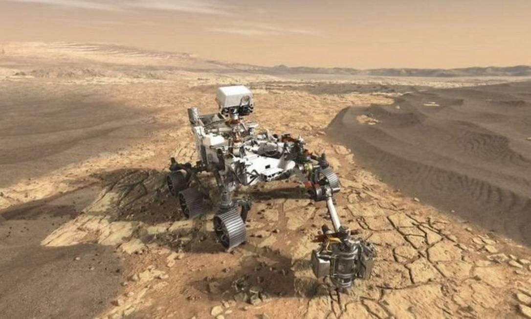O Perseverance explorará Marte por ao menos um ano marciano (687 dias terrestres) Foto: BBC News Brasil