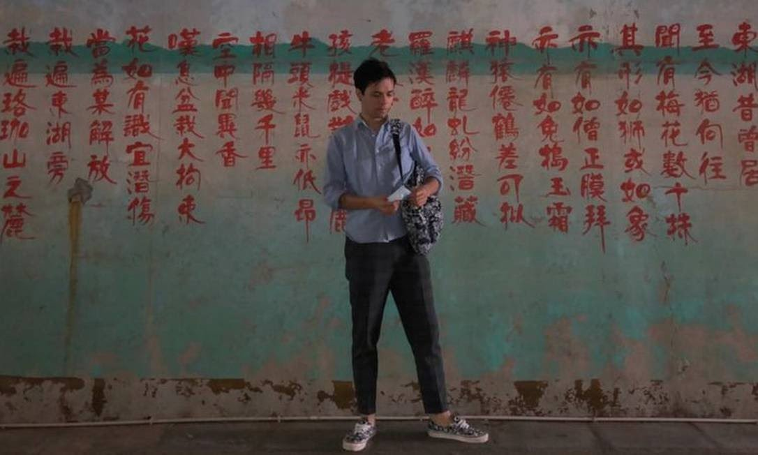 Kenyiti vive na China há sete anos Foto: Arquivo pessoal